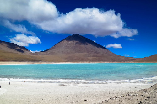 南美洲智利阿塔卡马沙漠安第斯山脉
